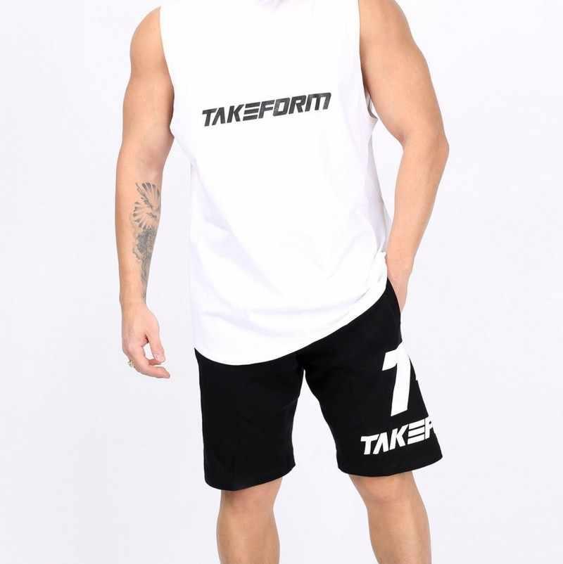 새로운 솔리드 보디 빌딩 스트링거 탱크 탑 망 코튼 스포츠웨어 탱크 탑 조끼 휘트니스 남자 체육관 의류 민소매 셔츠