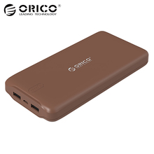 ORICO 20000mAh Portable Power Bank USB 5V2.4A Powerbank External Battery Charger for Mobile Phones Tablet Brown / White / Pink