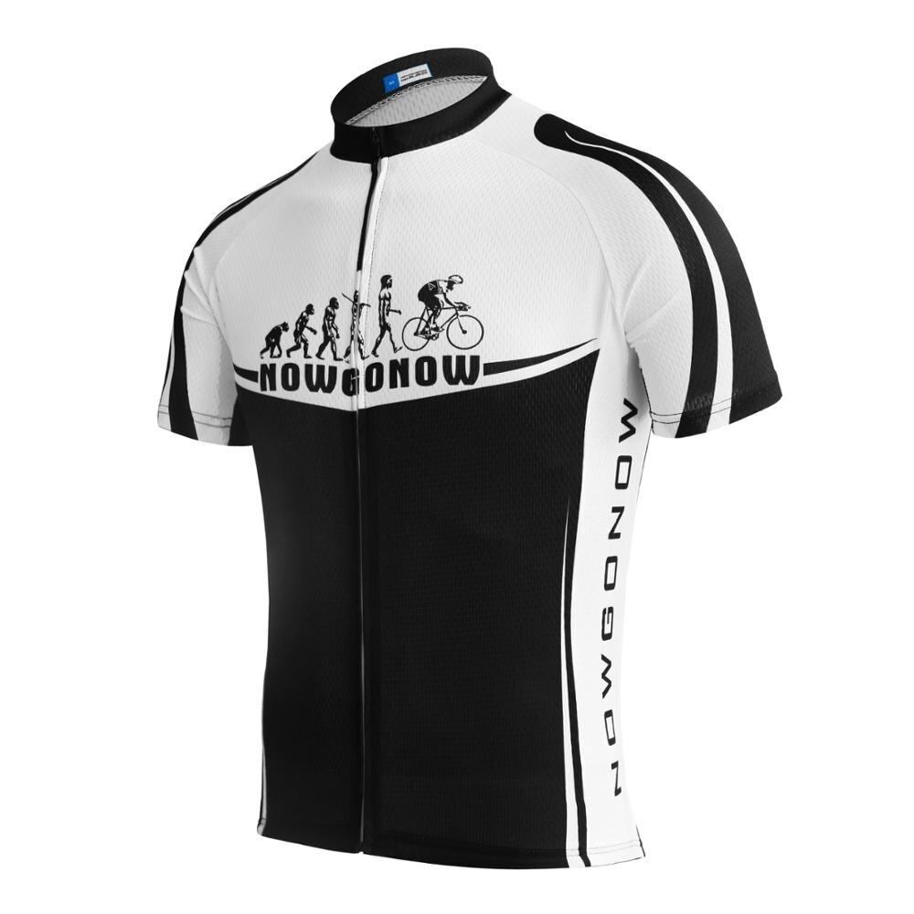 Prix pour NOUVEAU 2017 nowgonow Équipe hommes Manches Courtes Jersey Pro Cycling Vêtements l'évolution Maillot Quick Dry
