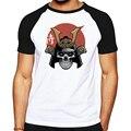 Реглан Повседневная мужчины футболка выродок майка лето хлопок марка clothing Японский Самурай Напечатаны Футболки для мужчин