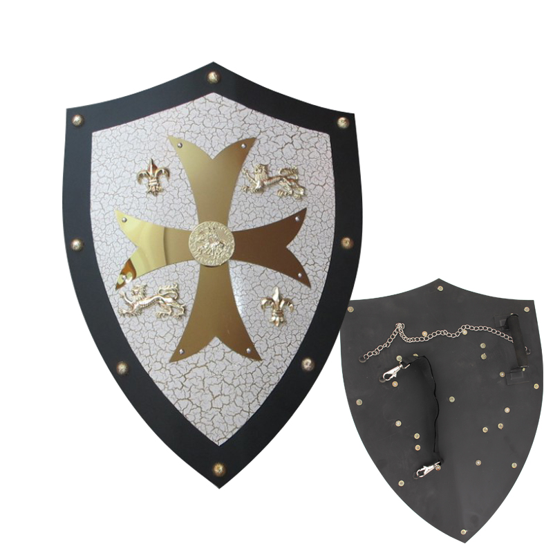 Medieval Knight Crusader Shield Armor For Kingdom of Heaven Steel Material 24 Inch Brand New Supply Display