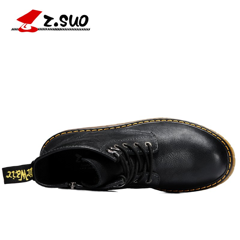 Street Vintage Suo Marrone Z Shoes Protezione Motorcycle Motociclisti Boot Men Boots Leather Nero qXRzFq
