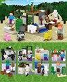 8en1 lepin nueva llegada escena clásica mi mundo minecraft figuras bloques de construcción ladrillos juguetes para los niños regalo