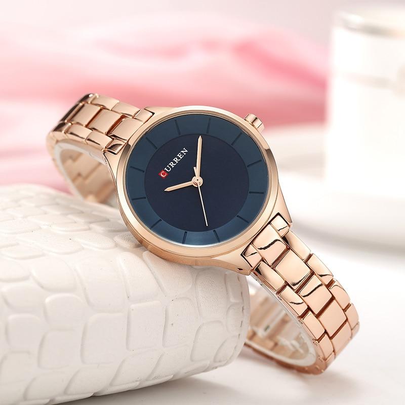 CURREN Top Brand Fashion Ladies Watches Stainless Steel Band Quartz Female Wrist Watch Ladies Gifts Clock Relogio Feminino 4
