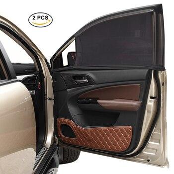 CARGOOL 2 sztuk Samochodów Przednia Okno Boczne Osłony Przeciwsłoneczne Samochodowych Okno Boczne Pokrycie Oddychające Sun Shade Przed UV