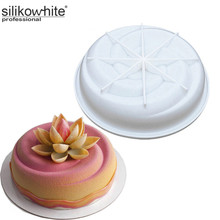 Swirl Pattern Round Silicone Mold Baking Dessert Mousse Cake bases kitchen Baking Pan Cake Decorating Tool For Home Or Cake Shop