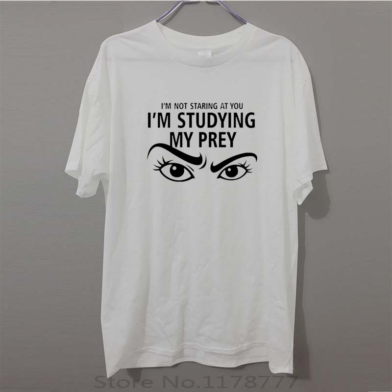 New Trendy T Shirt Men Tee Shirt Im Not Staring At You Fitness Tshirt Good Quality Short Sleeve Hip Hop Tops