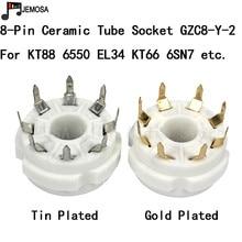 10PCS Tubo di Ceramica Presa PCB Montaggio 8 Spilli Tubo Elettronico Sedile Per KT66 KT88 6SL7 6SN7 6CA7 EL34 GZ34 tubo a vuoto di Trasporto libero