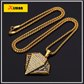XS921 Superman Pendant Necklace Fashion Jewelry Stainless Steel/Gold Plated Zircon shape Necklace For Men Chain