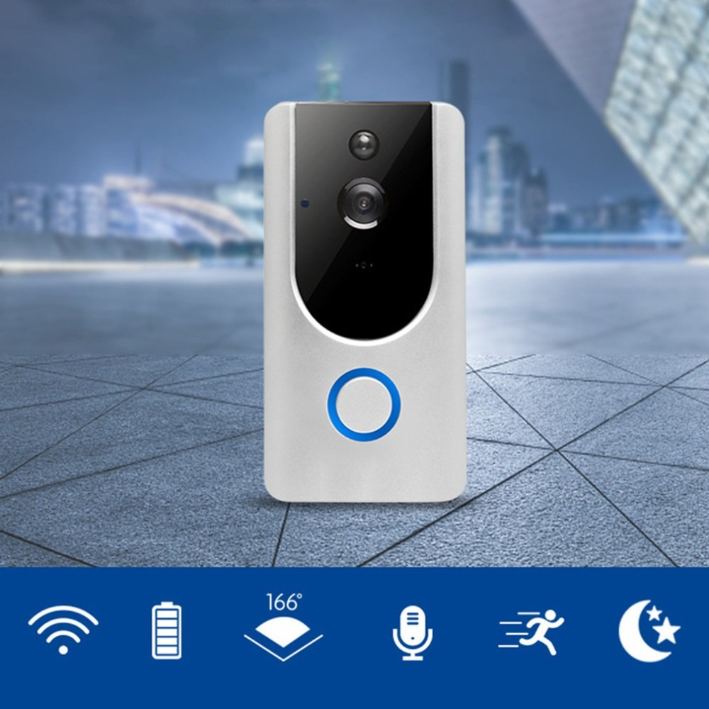 ZC-IP09S Wifi Wireless Video Doorbell 166 Degree Wide Angle Infrared Night Vision Long Standby Two-way VoiceZC-IP09S Wifi Wireless Video Doorbell 166 Degree Wide Angle Infrared Night Vision Long Standby Two-way Voice