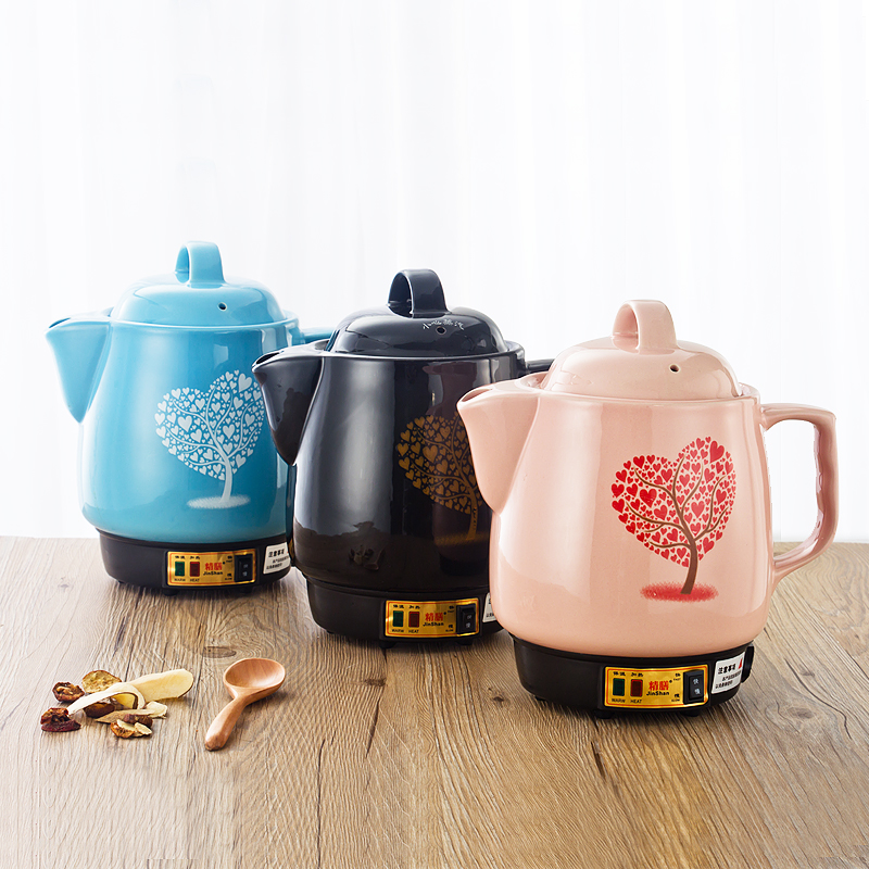 220V Automatic Electric <font><b>4L</b></font> <font><b>Kettle</b></font> Chinese Medicine Stewing Pot Ceramic Decocting Herb Medicine Multi Cooker 3 Color Available image