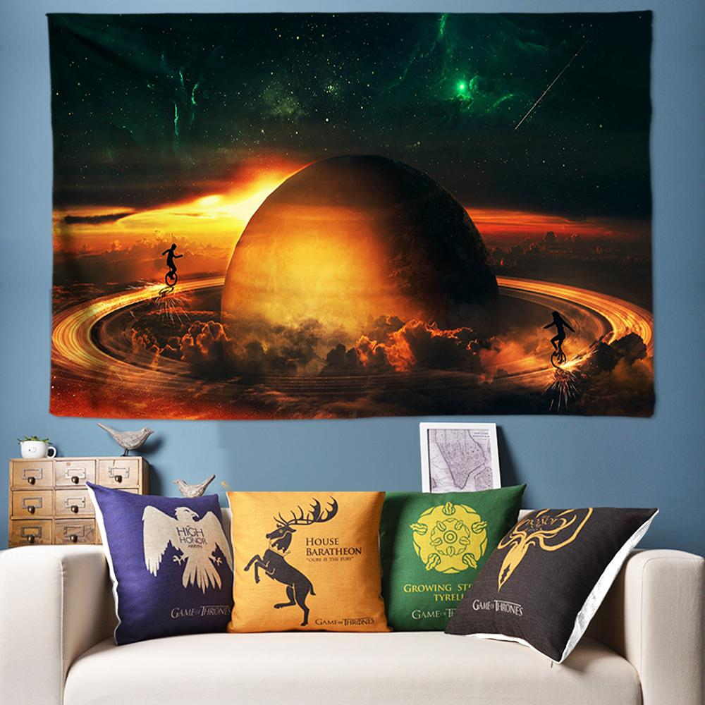 Free Galaxy Space Work Psychedelic Tapestry Wall Hanging Nature Scenery Mandala 3d Hippie Large 170*240cm