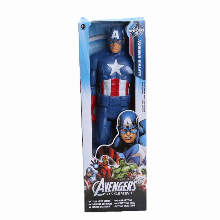 Экшен-фигурки Hasbro, игрушки Marvel, фигурки супергероев из фильма «Мстители: Финал» — Тор, Капитан Америка, Танос, Росомаха, Человек-паук, Железный человек, размер 30 см