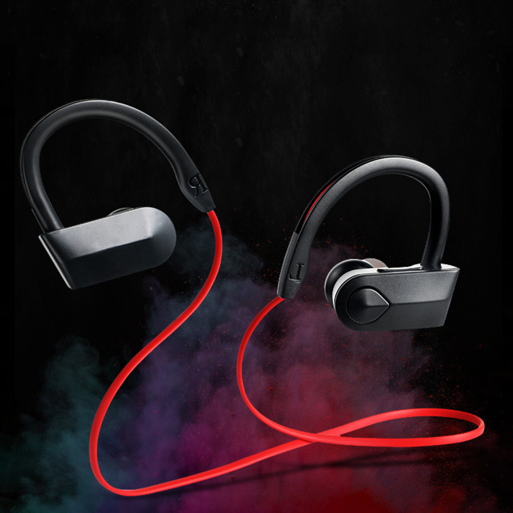 Neckband Wireless Bluetooth4.2 Headphone Sport Earphone Waterproof And Anti-sweat Bass Noise Reduction With Microphone Earphone image