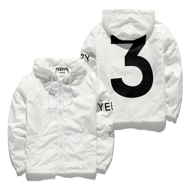 e8eb902ef98 Yeezus Jacket Men Virgil Abloh Yeezy Windbreaker 3 Yeezus Tour Kanye West  Fake Yeezy Season Hip Hop Bape Jackets Yeezus Jacket