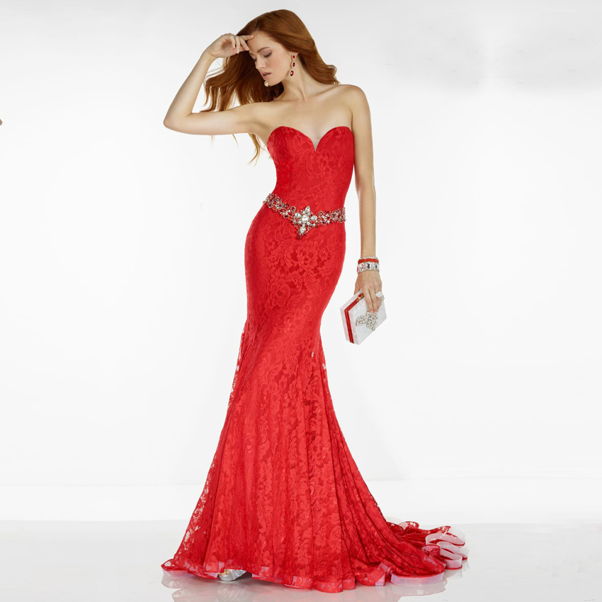 Popular Fast Shipping Prom Dresses Red Mermaid-Buy Cheap Fast ...