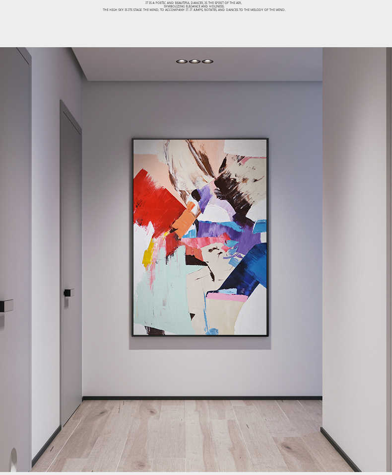 Abstract Color Splash Canvas Painting Poster Print Unique Decor Wall Art Picture For Living Room Bedroom DinningRoom Aisle Lobby