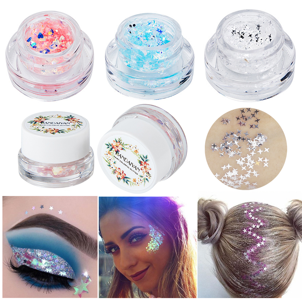 Nice Festival Body Glitter Makeup Highlighter Mermaid Sequin Cream Gel Hair Shimmer Lips Eye Shadow Glitter Makeup Accessories Bringing More Convenience To The People In Their Daily Life Beauty & Health