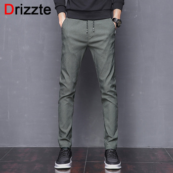 Drizzte Mens Stretch Casual Slacks - Slim Dress Pants