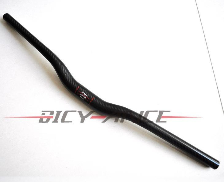 Nouveau vtt 3 K pleine de montée du guidon de carbone avaler en forme de carbone guidon de vélo vtt pièces de vélo 31.8 * 620 - 740 mm navire gratuit
