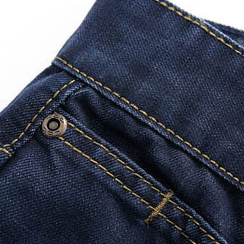 Droppshiping Fashion Men Casual Jeans Pants Slim Straight High Elastic Feet Jeans Middle Waist Long Trousers Dg88