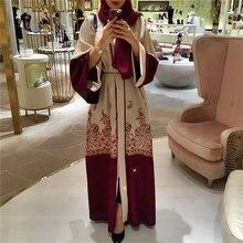 Модный кафтан уличная одежда большой размер принт красный Дубай