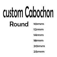 Cabochon personnalisé reidgaller 10mm 12mm 14mm 18mm 20mm 25mm dôme rond bijoux pendentif cabochons en verre