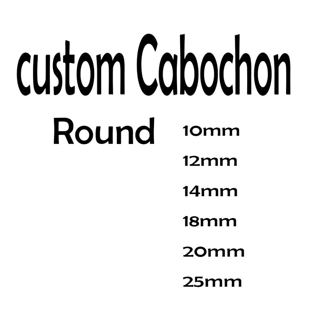 reidgaller Custom Cabochon 10mm 12mm 14mm 18mm 20mm 25mm Round dome jewelry pendant glass cabochons