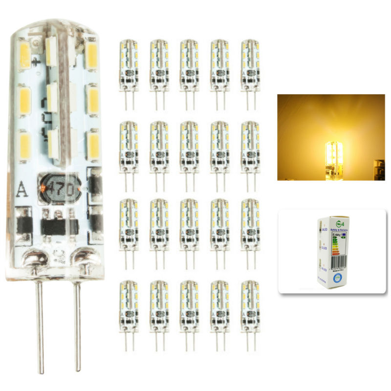 20 pcs/lot G4 LED Lighting Bulbs 3W LED Spotlight Bulb Lamp in crystal Light lamp AC DC 12V 24 3014 SMD