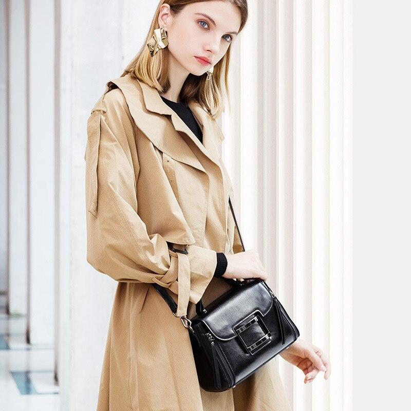 Analytisch Vrouwen Nieuwe Mode Toevallige Olie Wax Lederen Handtassen Doorsnede Vierkante Type Bedekt Lederen Schouder Slingerde Kleine Vierkante Tas