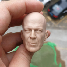 цена на 1/6 Scale The Detective Bruce Willis Unpainted Head for 12''Action Figures Bodies Toys
