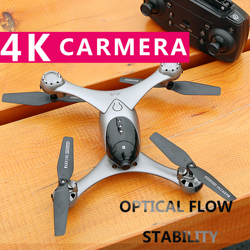2019 M6 Selfie Drone with Gimbal Double Camera 4K HD WIFI FPV Follow Me Professional Helicopter Gravity Tracking Quadcopter RTF