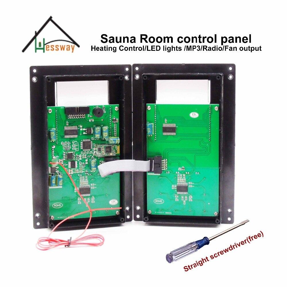 Lcd панель управления сауны с несколькими функциями выхода тепла, mp3, FM, бордовый - 6