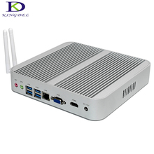 Fanless Barebone i5 Mini PC Windows 10 Broadwell Intel Core i5 5200U 5250U HTPC Graphics HD 6000 HDMI+VGA+SD Card Reader