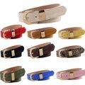 Diseño Cómodo de la Manera Breves Cinturones Cinturones de piel de Cerdo Ajustable caliente Helado Sólido Mujeres Correas de Cintura