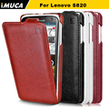 Lenovo s820 case lenovo s820 cover luxury flip leather case iMUCA Original mobile phone accessories bag capa