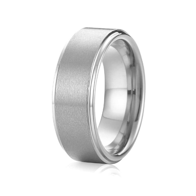 Новое поступление ручной работы чистый противоаллергическим Titanium украшения мужчины обещают кольца ...