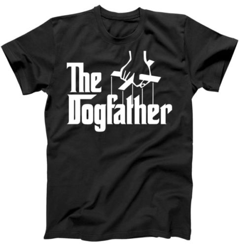 Funny Dog Father The DogFather T-Shirt Gift for Fathers Day Shirt Cheap Crew Neck MenS T ...