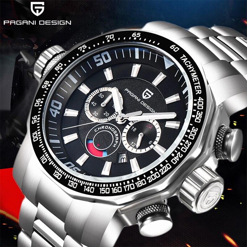 Montres hommes PAGANI DESIGN de luxe marque Sport montre hommes étanche acier inoxydable multifonction Quartz horloge Reloj Hombre