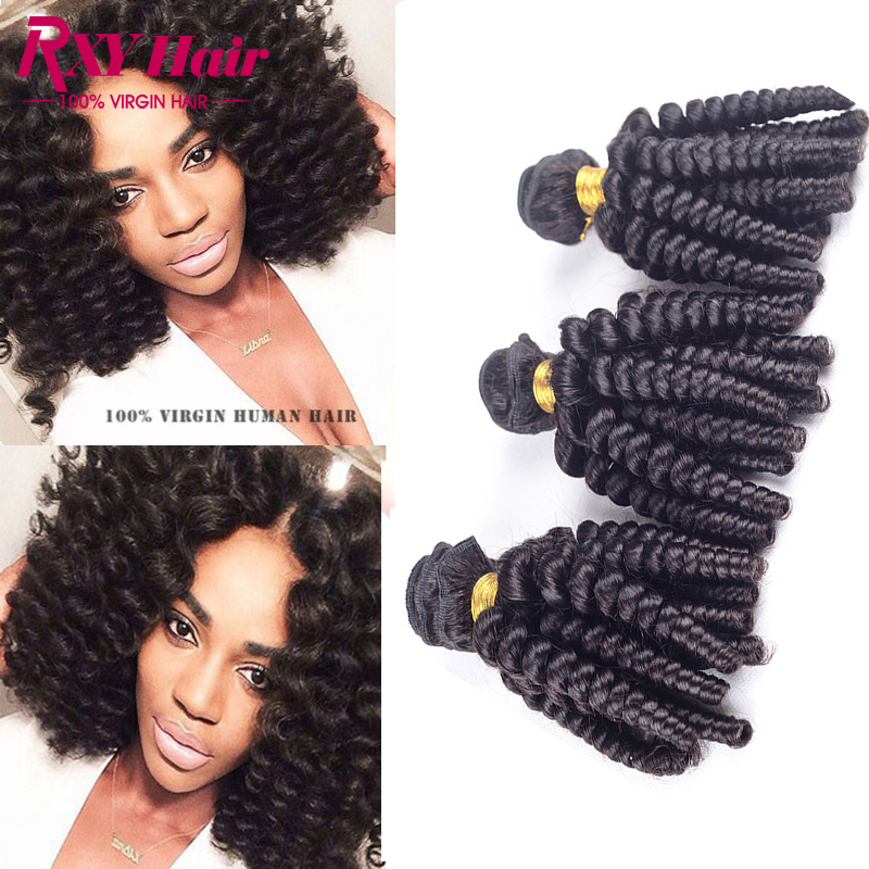 Brazilian Virgin Hair Aunty Fummi Bouncy Curls 4pcs Bouncy