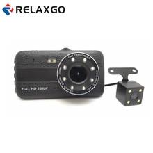 Big discount Relaxgo Mini 4″ Car DVR Camera Full HD 1080P Car Camera Video Recorder ADAS LDWS Dash Cam Dual Lens Night Vision Auto Black Box