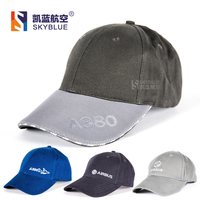 New Arrival Airbus A380 Outdoor Baseball Cap Hat Adjustable Gray White Blue Gift For Aviation Lovers