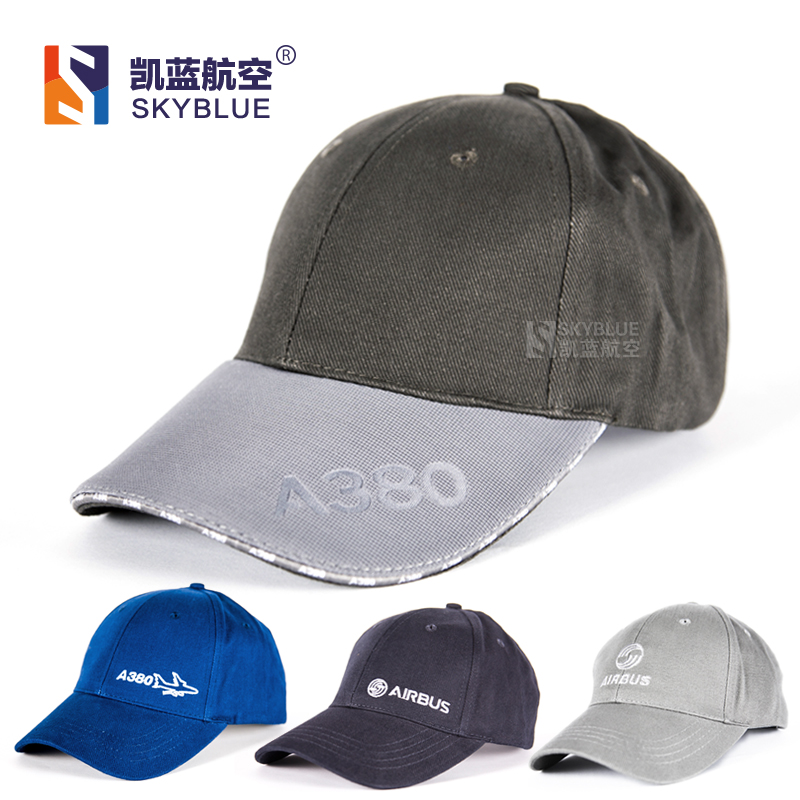 New Arrival Airbus / A380 , Adjustable , gray / white / blue for Aviation Lovers Flight Crew Men Women
