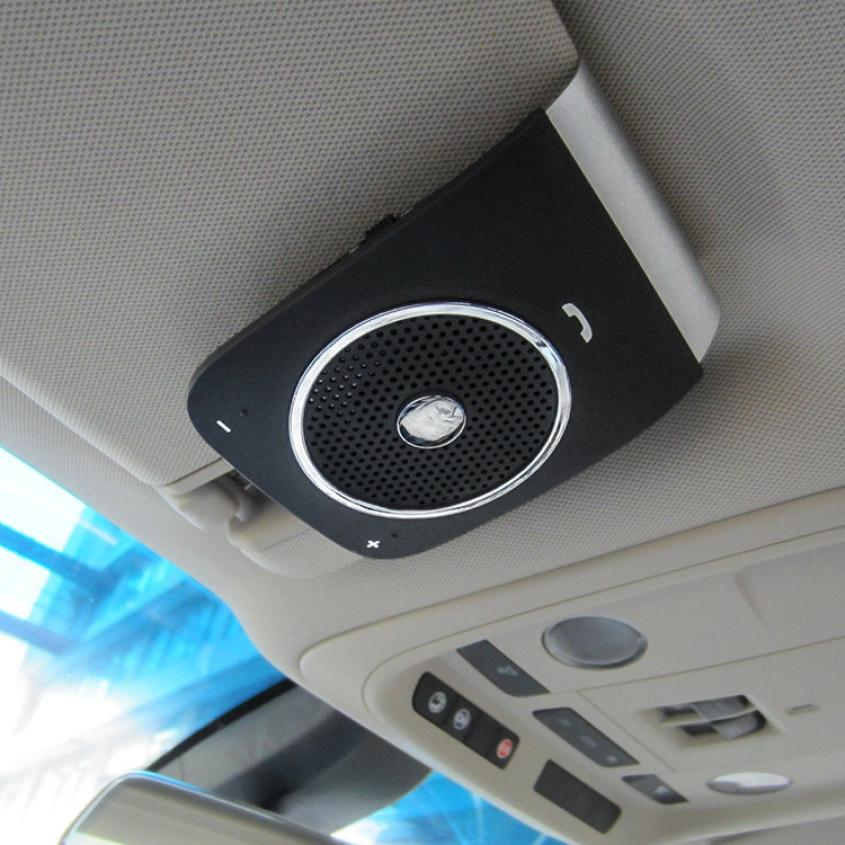 New Arrival Wireless Bluetooth Handsfree Car Kit Visor Clip Speaker Phone for iPhone Galaxy apr11 hk009 wireless bluetooth 4 0 handsfree car speaker black