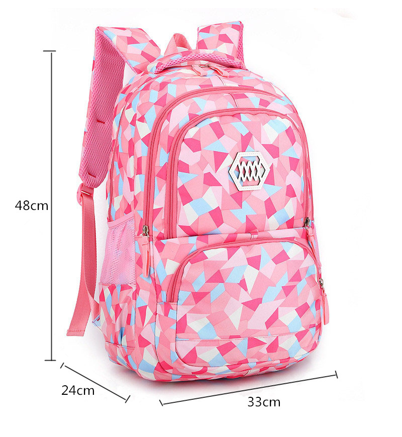 Fashion Lightweight Waterproof Printing School Backpack for