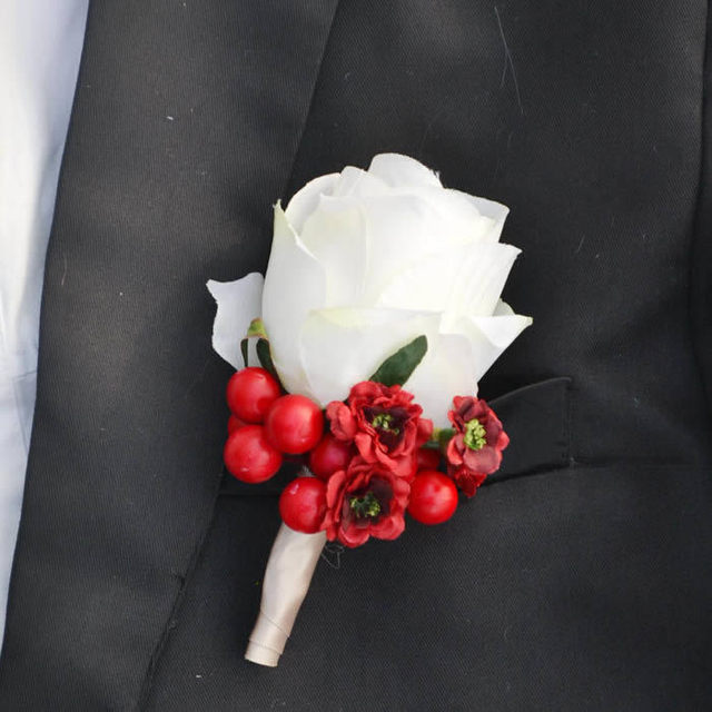 1 set 2pcs artificial silk white flower prom corsages wedding groom 1 set 2pcs artificial silk white flower prom corsages wedding groom corsage prom men brooch boutonniere mightylinksfo