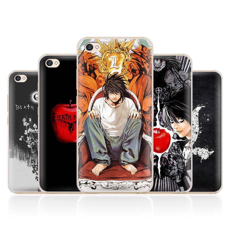 Death Note L logo Light Yagami Anime Phone Case Shell For Xiaomi Redmi Note 2 3 4 4X 5A Pro Mi 4 5 5S Plus 5X 6 MiA1 Minote 2 3