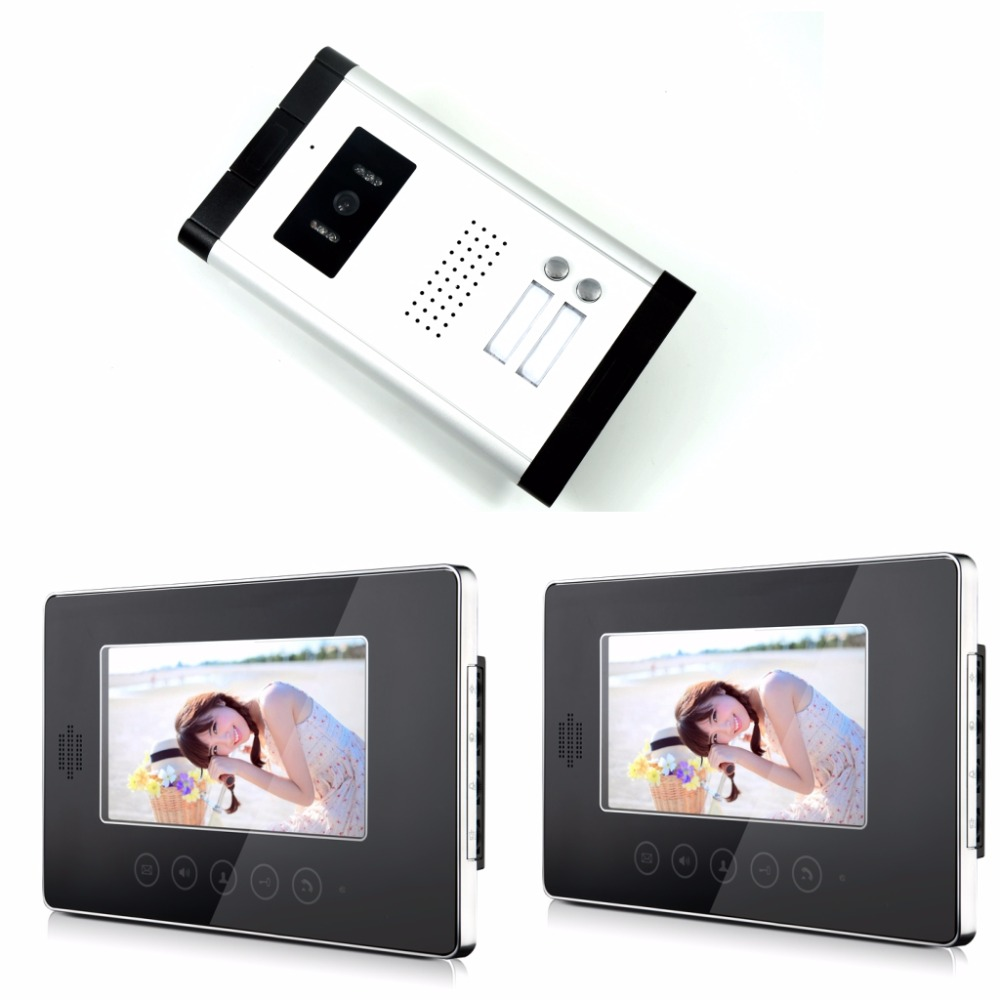 7 Inch Color Monitor 1v2 Wired Intercom Video Door Phone