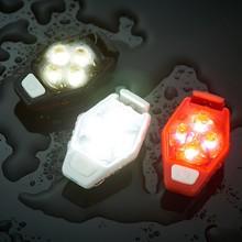 Предупреждение свет IPX4 Водонепроницаемый 4 режима освещения клип на велосипед поясная сумка инструмент освещения для велоспорта бег