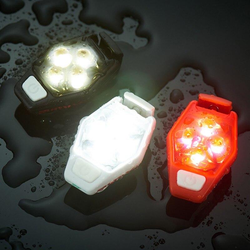 LED Warning Light IPX4 Waterproof 4 Lighting Mode Clip-On Bike Waist Bag Lighting Tool For Cycling Running New